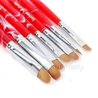 7Pcs Nail Art Pinsel French Nail Art UV Gel Brush Nagel Pinsel Maniküre Set