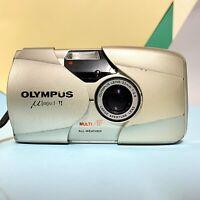 Olympus mju II Stylus Epic 35mm Compact Film Camera 35mm F2.8 Lens! Film Tested
