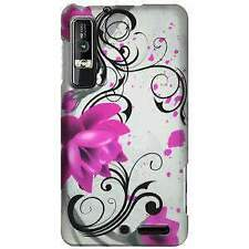 Rubberized Protector Case for Motorola Droid 3 XT862 - Pink Lotus