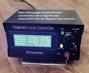 Magnetic loop automatic controller by GM0SDV