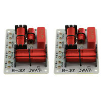 2Pieces 3 Way Audio Speaker Frequency Divider Aplifier Crossover Filter