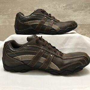 Skechers Mens Diameter Blake 63385 Sz 10 Brown Lace Up Sneakers Comfort Relaxed