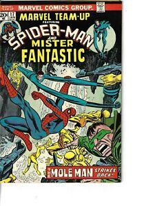 Marvel Team-Up 17 Mister Fantastic Spider-Man Mole Man VG/F 1974 Glossy