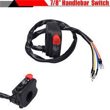 "7/8"" Motorcycle Dirt Bike Headlight Fog Light ON OFF Start Kill Switch Control"