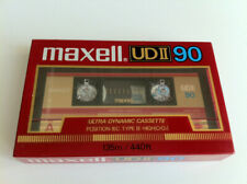 MAXELL UDII 90 Audio Cassette Tape NEW 1985 Made in Japan
