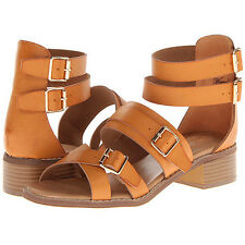 WANTED Womens KINGDOM Tan Strappy Sandals   US 7.5M (733207)