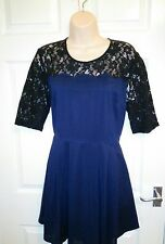 BNWT Vaudeville & Burlesque Urban Outfitters designer lace tea dress L 12 14