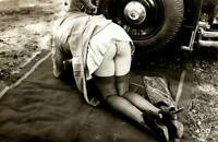 Vintage Miss Mechanic Photo 769b Odd Strange & Bizarre