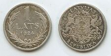 G8422 - Lettland 1 Lats 1924 Silber KM#7 Latvia