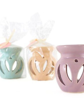 Ceramic lilac oil burner with fragrance melt aroma candle gift present tealight