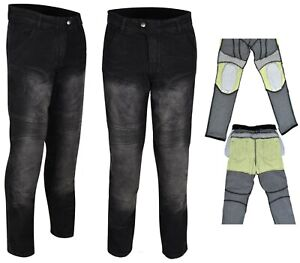 Model® Men's Motorbike Denim Jean Lining Made with Kevlar fiber Knee Hip Padding