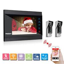Tmezon 7 Inch IP WIFI Touch Video Intercom Record Doorbell Night Vision Camera