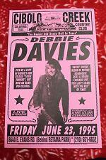 DEBBIE DAVIES San Antonio TX (1995) Concert Poster guitar albert collins BLUES
