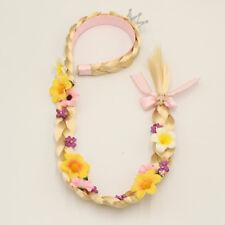 New Cosplay Weaving Braid Tangled Rapunzel Princess Headband Hair Girl Wig