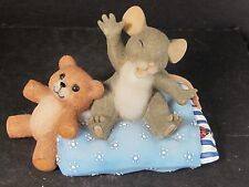 Charming Tails Sleepy Head 89/113 Mouse Yawning Teddy Bear on Pillow
