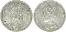 Niederlande 1 Gulden 1913, Silber Wilhelmina  sehr schön