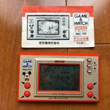 Nintendo MICKEY MOUSE Game & watch hand held Gold Wide Screen NO BOX #48