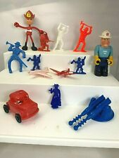 Vintage Junk Drawer Toys Firemen Wannatoys Car Brabo Fireman Planes Mixed Lot