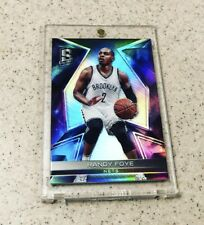 2016-17 Spectra BLACK SSP TRUE 1 of 1 RANDY FOYE Prizm Refractor New York 1/1