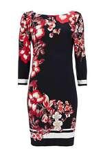 Vestido estilo túnica Floral Negro M (caben 12 y 14)