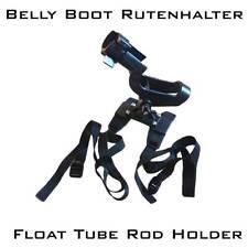 Belly Boat Rutenhalter mit Rutensicherungsring Jetzt: Einsatzbereit montiert