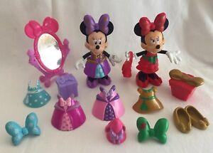Disney Minnie Mouse Bow-tique 2 Dolls Christmas Princess 20 Pieces