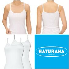 Naturana Women's Pack of 2 Cotton Spaghetti Strap Vest 802615 RRP £17.95