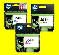 original HP 364XL cyan CB323EE magenta CB324EE yellow CB325EE Deskjet 3070A 3520