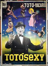 manifesto 4F film TOTO' SEXY Totò Erminio Macario Mario Amendola 1963