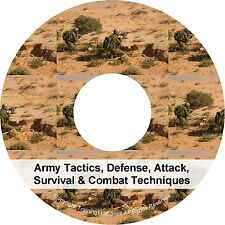 Army Tactics Defense Attack Survival Combat Techniques PDF Manual Book CD