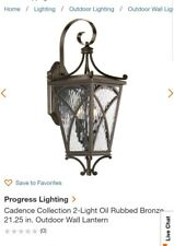 Progress Lighting P6638-108 Cadence Outdoor Wall Light Bronze New NIB Lantern +