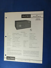 ALTEC 361B AMPLIFIER MIXER OPERATING OWNER MANUAL ORIGINAL WITH SCHEMATIC