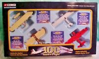 CORGI DIE-CAST 100 YEARS OF FLIGHT 4 AIRPLANES NEW IN BOX 2003 CSCA01004 NICE