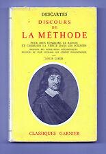 Descartes -  Discours de la Méthode - Pour bien conduire sa raison - Louis Viard