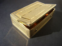 Rare Antique French Silver-Gilt Musical Snuff Box 1800s