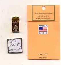 Mailbox Brass (working) 1930-100 1/12 scale dollhouse miniature by Clare-Bell