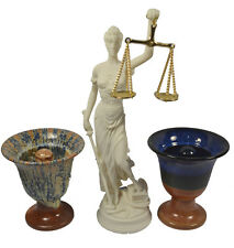 Themis sculpture statue Goddess of justice plus Pythagoras two cups of justice