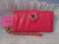 NWT!  BETSEY JOHNSON CELLY WALLET IN FUSHIA PINK PATENT  TOTALLY FABULOUS!!