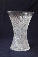 alte Vase Kristall Vollschliff 24 cm Schleuderstern