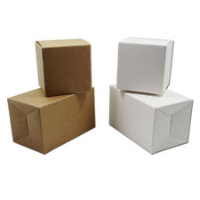 Brown White Kraft Paper Box For Party Gift Wedding Candy Jewelry Packing Window