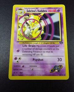 58/132 Sabrina's Kadabra Gym Challenge WOTC Pokemon Trading Card Game #CN