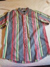 Vintage 90s Men's Tommy Hilfiger Ultimate Color Block Button Up Shirt L