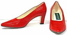 Women's Classiques Entier Red Pebbled Leather Pumps Heels Shoes sz 9½ M