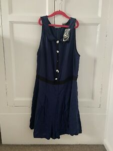Oasis Ladies Playsuit Size 16 Bnwt