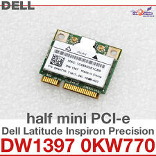 Wi-Fi WLAN WIRELESS CARD scheda di rete PER DELL MINI PCI-E DW1397 0KW770 NEW