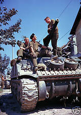 WW2 Color Photo M4 Sherman Tank in Color World War Two WWII US Army