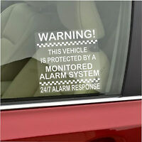 2 x Vehicle Protected by Monitored Alarm System Stickers-Car,Van,Truck,Taxi,Cab