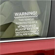 2 X vehículo protegido por un seguimiento de sistema de alarma stickers-car, furgoneta, Camioneta, Taxi, Taxi