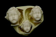 2D BABY FACE #2, Silicone Mold Chocolate Polymer Clay Jewelry Soap Melting Wax