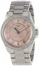 Juicy Couture 1901075 Stella Crystal Women's Silver/Pink Steel Watch - Authentic